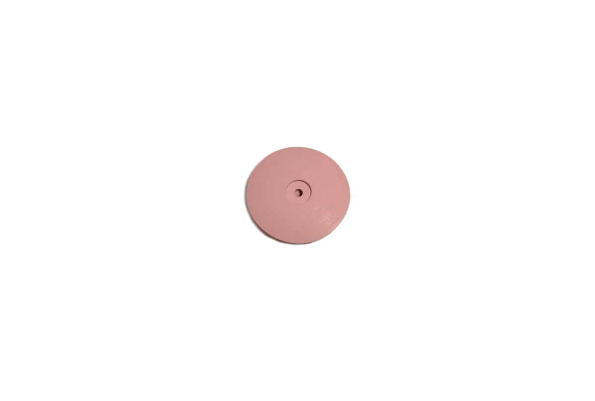 "ST1383 Silicone Knife Edge Wheel, 7/8"", Pink, 120 Grit-Grobet # 10.1383"