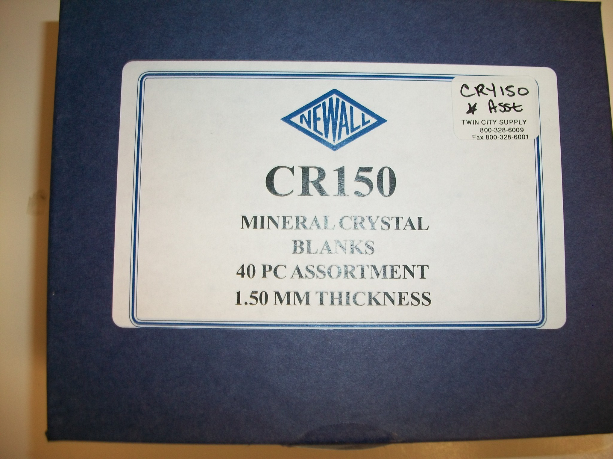 CRY150 New! 40 pc Assortment of SMG 1.50mm Mineral Glass Crystals--from Newall