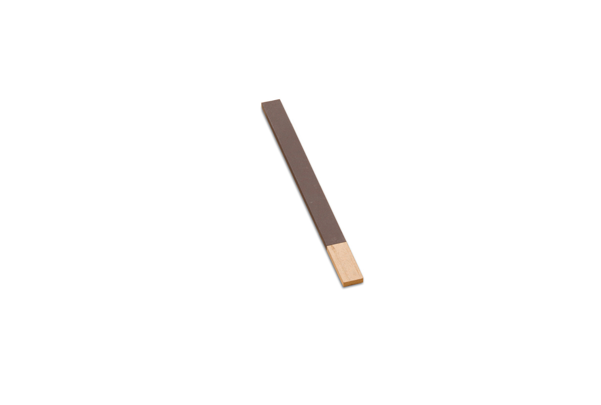 "BF921-3/0 Wood Flat Emery Sticks, 11"" x 3/4"", Grit # 3/0, Grobet # 11.341"