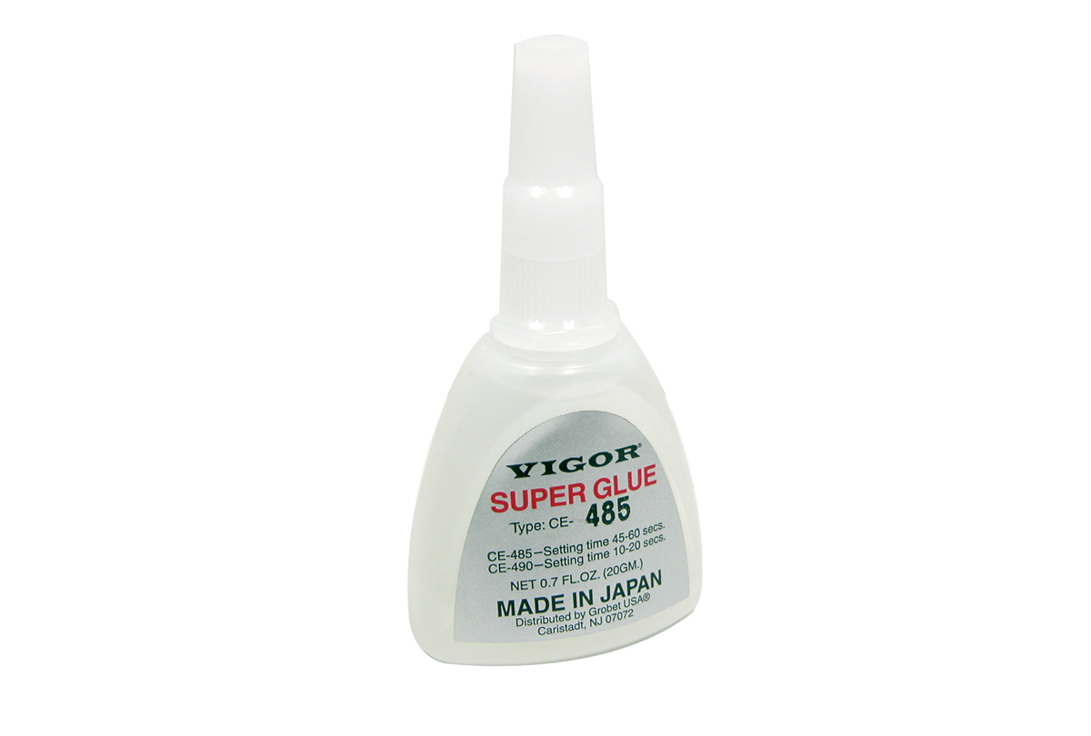 CE485QP Vigor Super Glue 20 gram bottle- sets in 45-60 seconds- Grobet #12.217