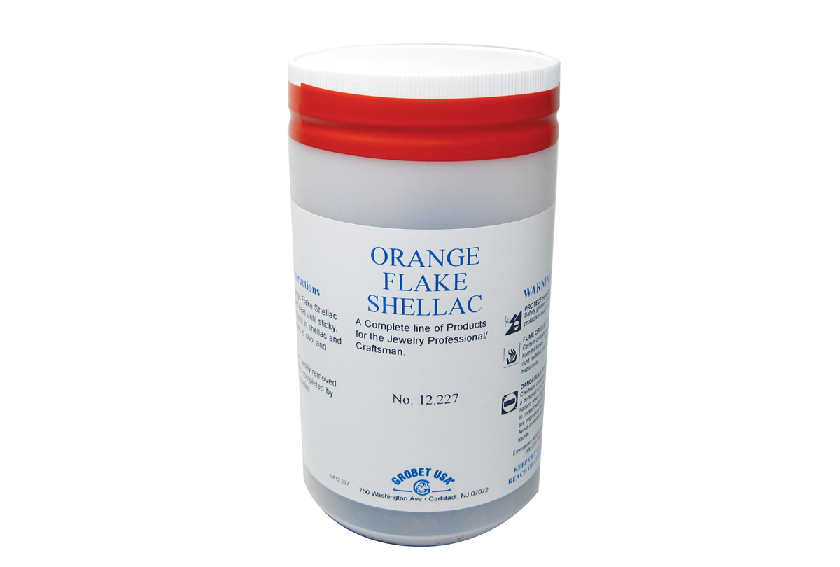 CE409 Orange Flake Shellac-6 oz. Grobet # 12.227