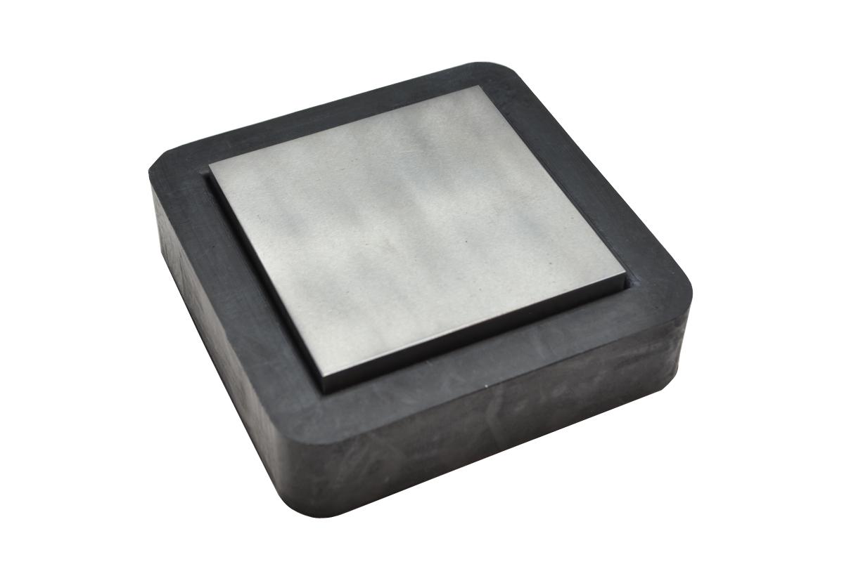 "13.204 New! 2-1/2"" Steel & Rubber Bench Block- Grobet- Special Order"