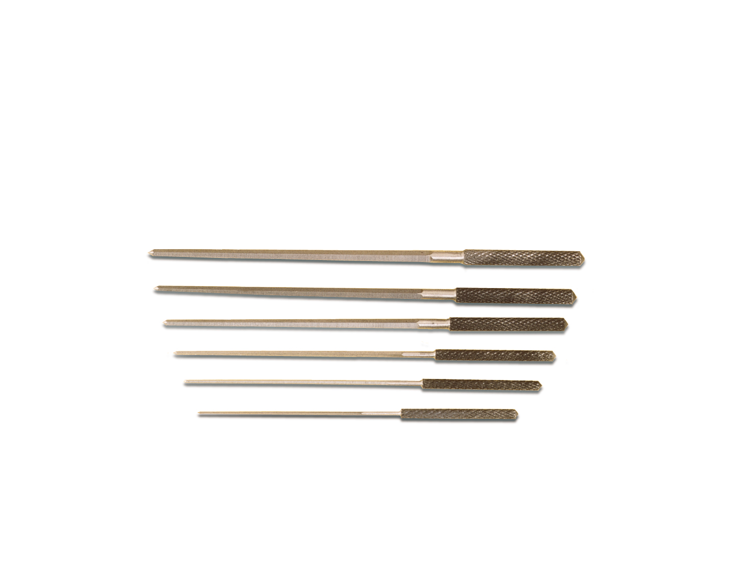 BR510 Grobet Set of 6 Cutting Broaches with Knurled Handles