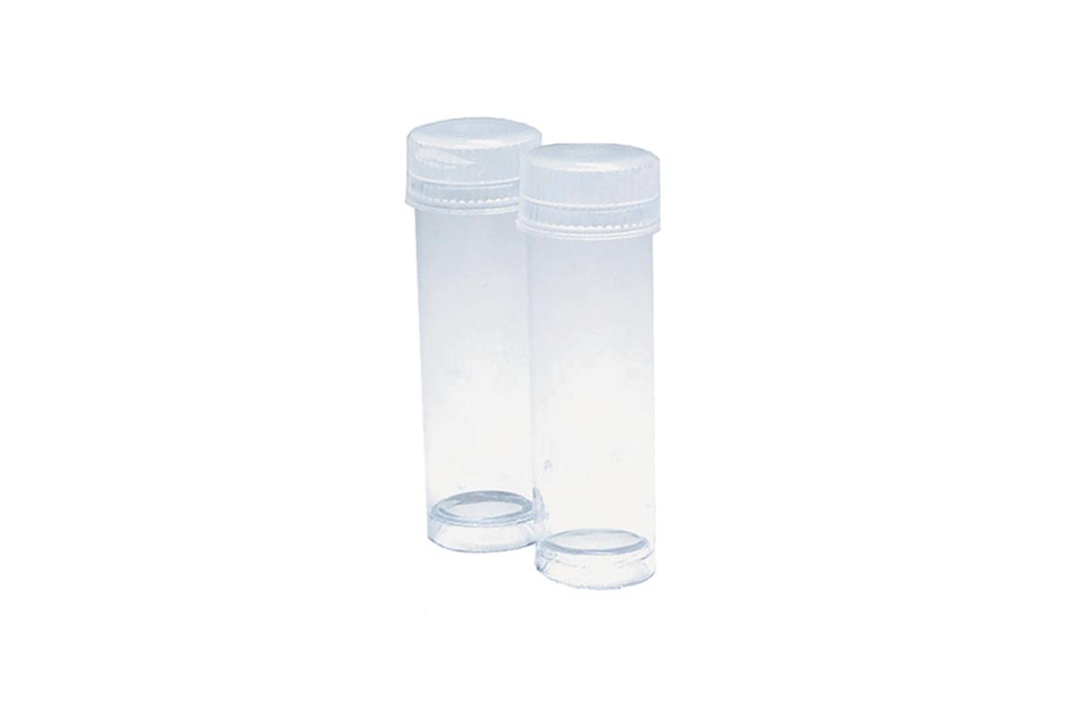 "BV234 Plastic Storage Bottles with Tops, 15/32"" x 1-7/32"", Grobet # 15.112"