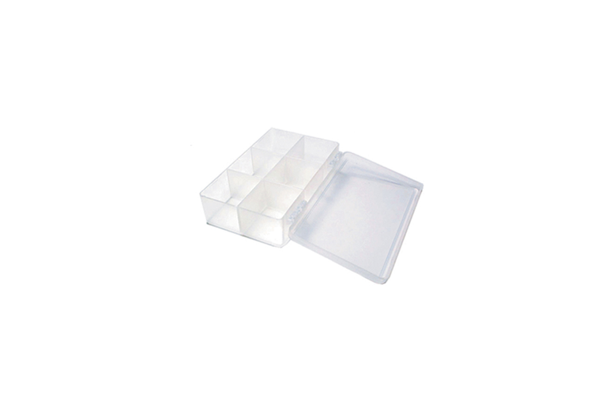 BX436 Plastic Storage Box with 6 Compartments Grobet # 15.136