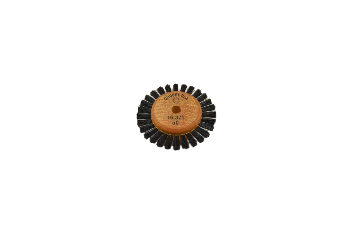 "BU523 Wood Hub Brush, 1 Row of Bristle, 2"" Overall Diameter Grobet #16.371"