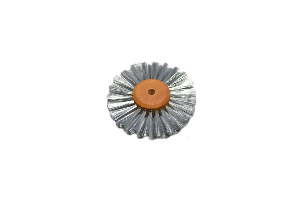 "16.456 Straight Steel Wire Brush, 2 Rows of Wire, 3"" Diameter- Grobet"