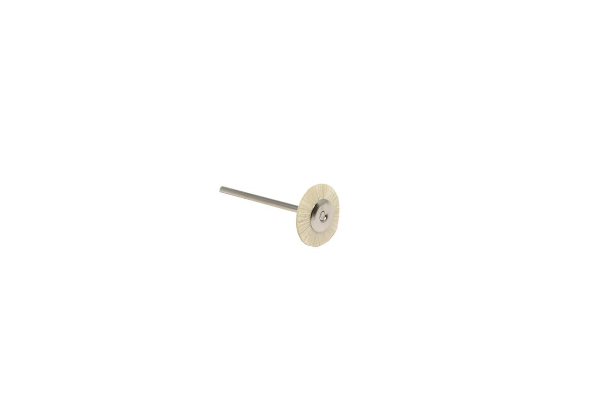 "BU1106 Soft Bristle Wheel Brush, 3/4"" Diameter 3/32"" Shank Grobet # 16.607"