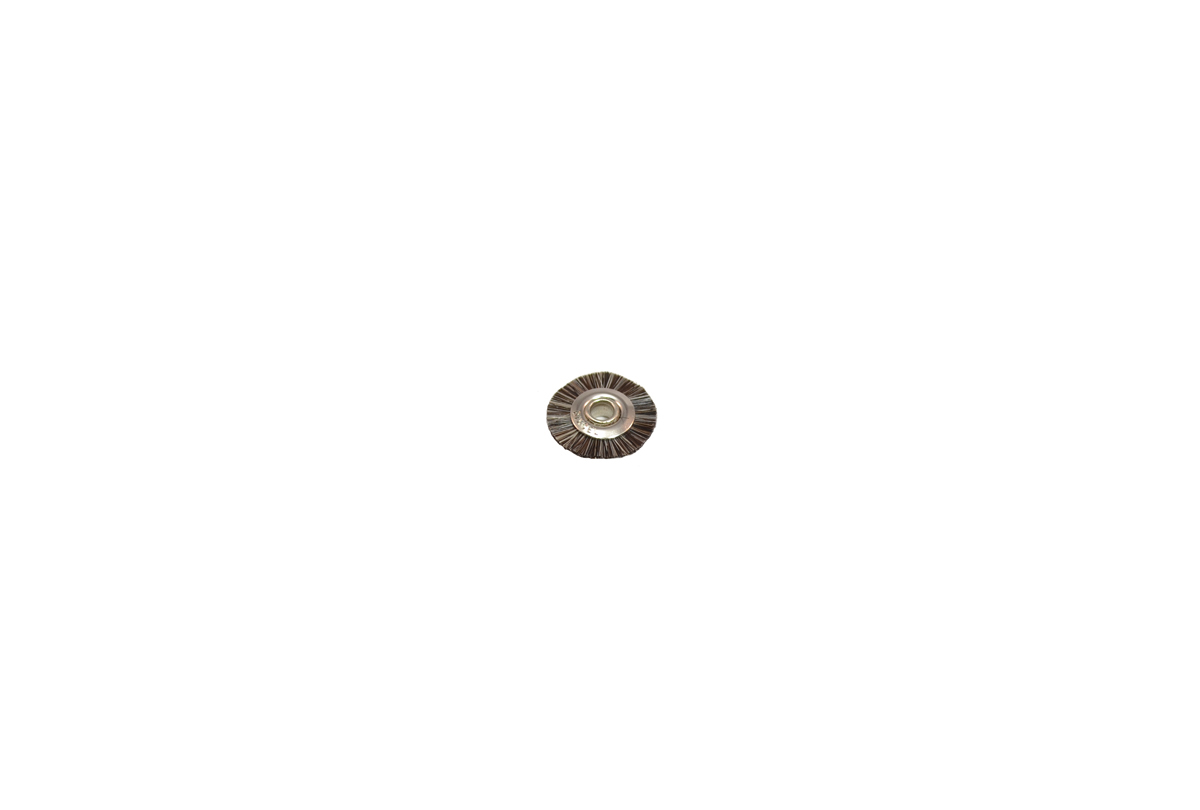 "BU1176 Soft Bristle Wheel Brush, 5/8"" Diameter 1/8"" Arbor Hole Grobet # 16.647"