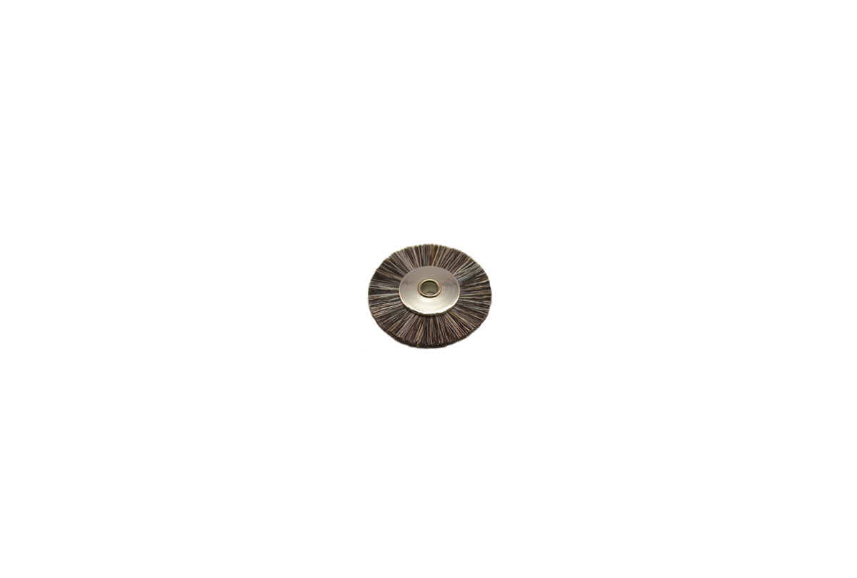 "BU1183 Soft Bristle Wheel Brush, 1"" Diameter 1/8"" Arbor Hole Grobet # 16.651"