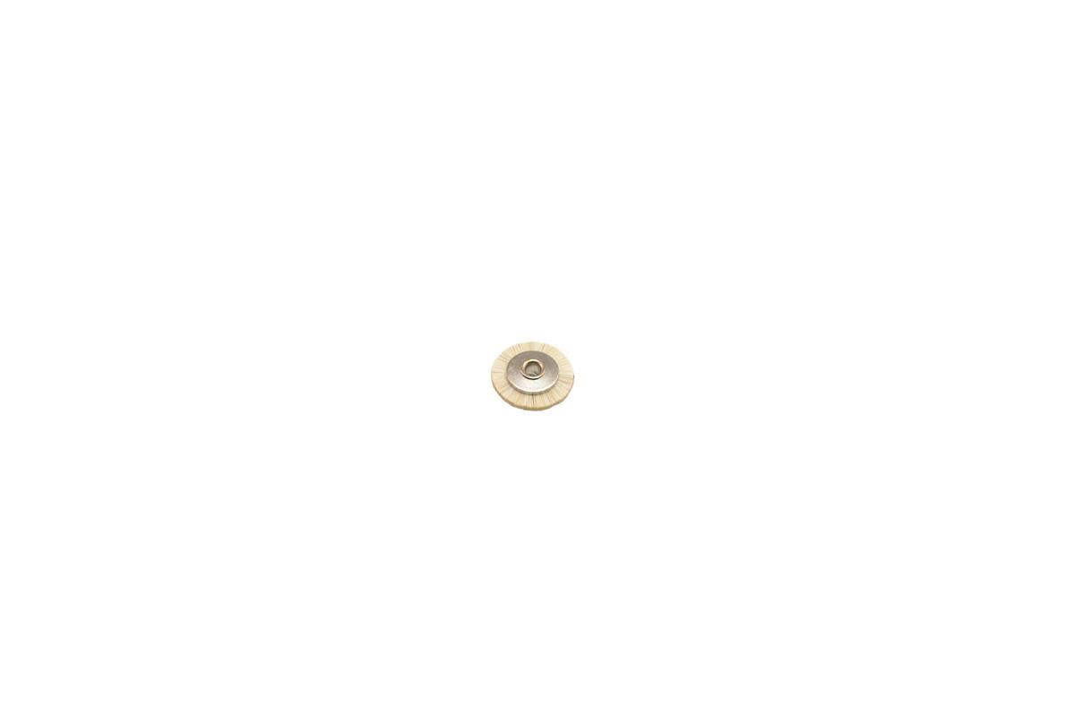 "BU1170 Soft Bristle Wheel Brush, 9/16"" Diameter 3/32"" Arbor Hole- Grobet # 16.657"