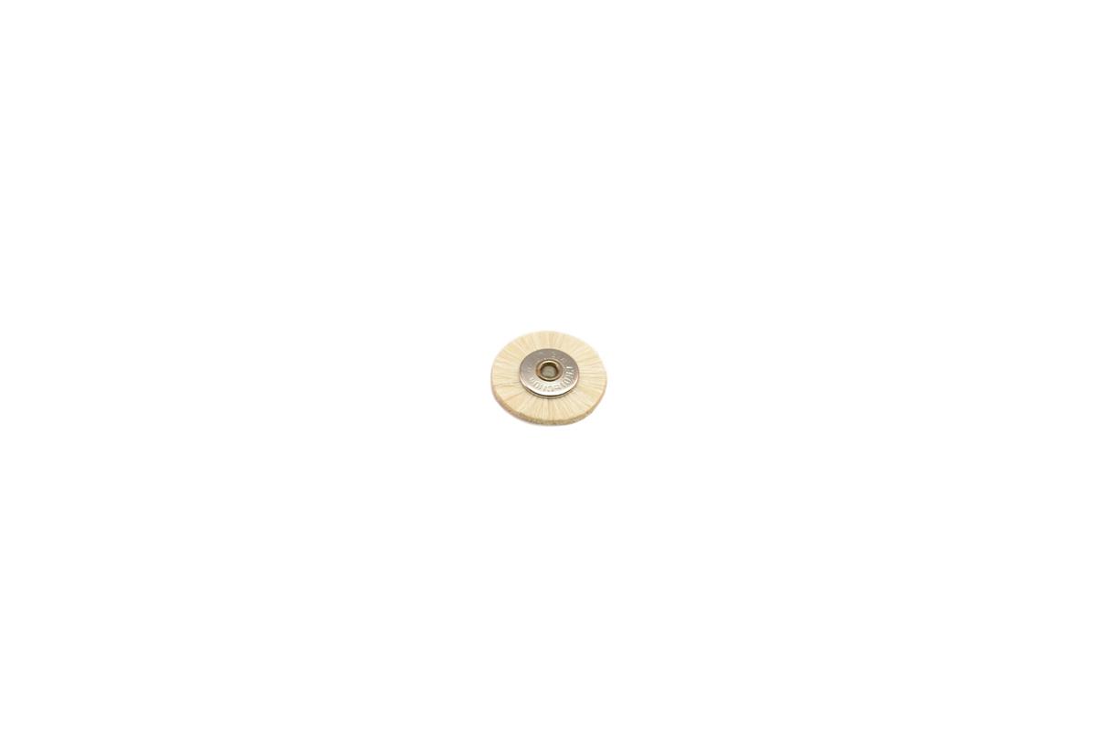 "BU1172 Soft Bristle Wheel Brush, 3/4"" Diameter 3/32"" Arbor Hole- Grobet # 16.660"