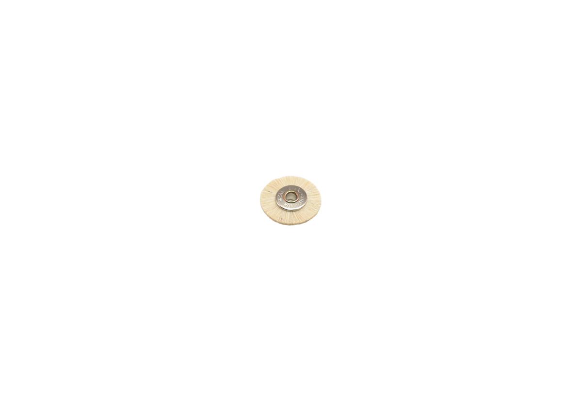 "BU1178 Extra Soft Bristle Wheel Brush, 3/4"" Diameter 1/8"" Arbor Hole Grobet # 16.662"