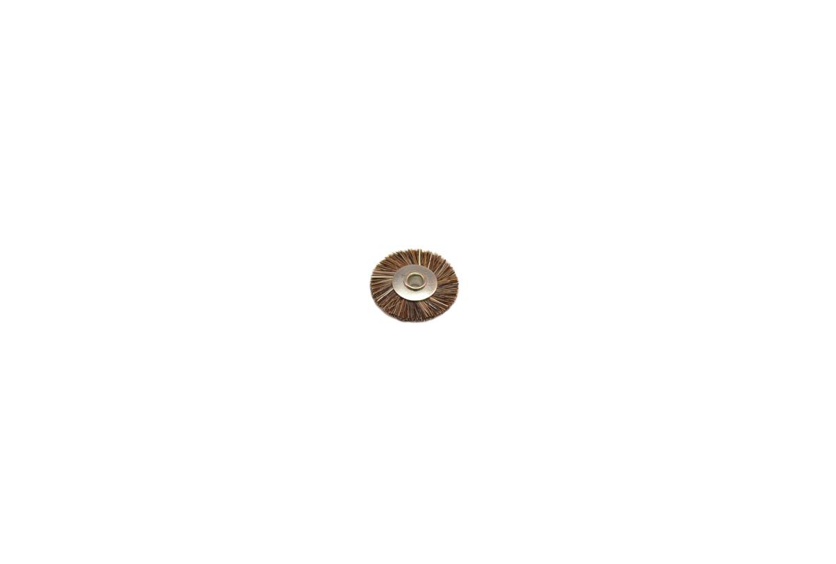 """BU1180 Medium Stiffness Bristle Wheel Brush, 3/4"""" Diameter 1/8"""" Arbor Hole Grobet # 16.663"""