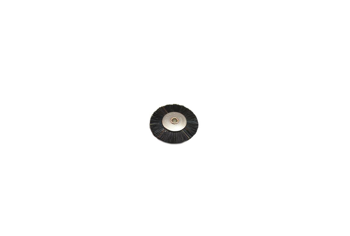 """BU1175 Medium Stiffness Bristle Wheel Brush, 1"""" Diameter 3/32"""" Arbor Hole Grobet # 16.670"""