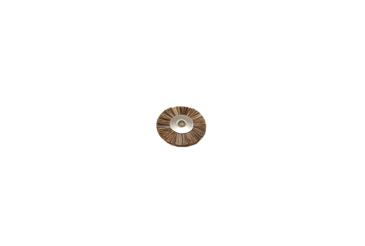 "BU1184 Medium Stiffness Bristle Wheel Brush, 1"" Diameter 1/8"" Arbor Hole Grobet # 16.672"