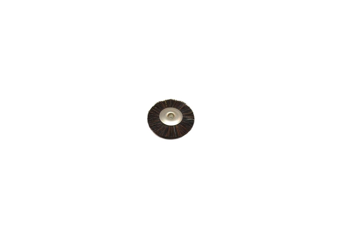 """BU1185 Stiff Bristle Wheel Brush, 1"""" Diameter 1/8"""" Arbor Hole Grobet # 16.673"""