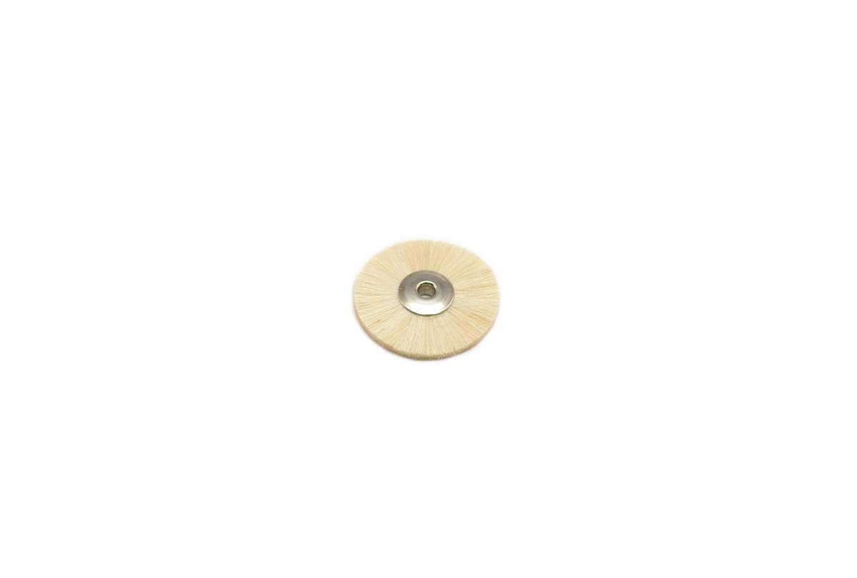 "BU1186 Extra Soft Bristle Wheel Brush, 1-1/4"" Diameter 1/8"" Arbor Hole Grobet # 16.677"