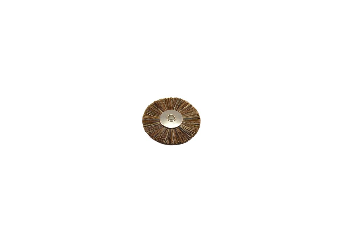"""BU1188 Medium Stiffness Bristle Wheel Brush, 1-1/4"""" Diameter 1/8"""" Arbor Hole Grobet # 16.678"""