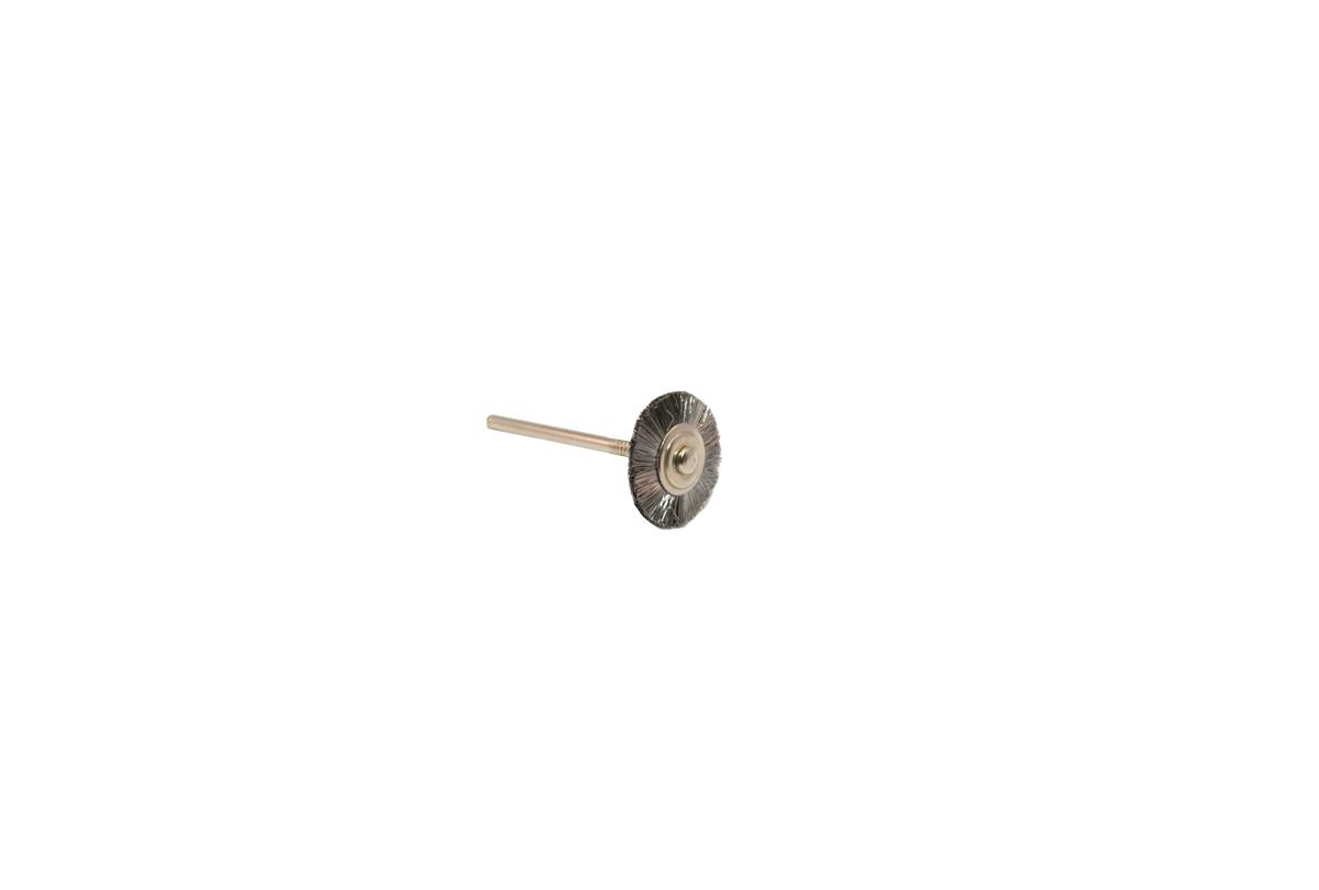 "BU1140 Straight Steel Wire Wheel Brush, 3/4"" Diameter 3/32"" Shank Grobet # 16.840"