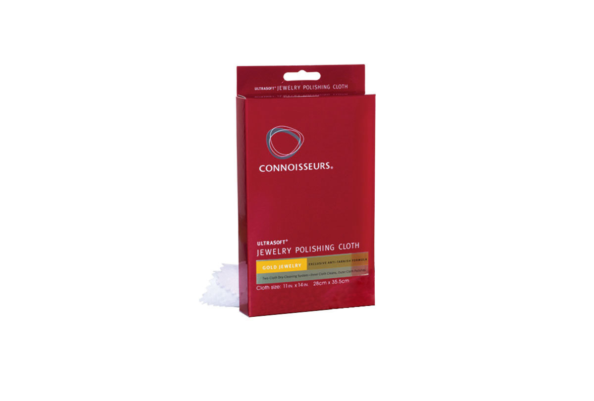 PS270 Connoisseurs Ultra-Soft Polishing Cloth for Gold- Boxed for resale- Grobet 17.0270