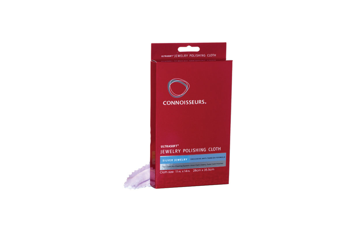 PS271 Connoisseurs Ultra-Soft Polishing Cloth for Silver- Boxed for resale- Grobet 17.0271