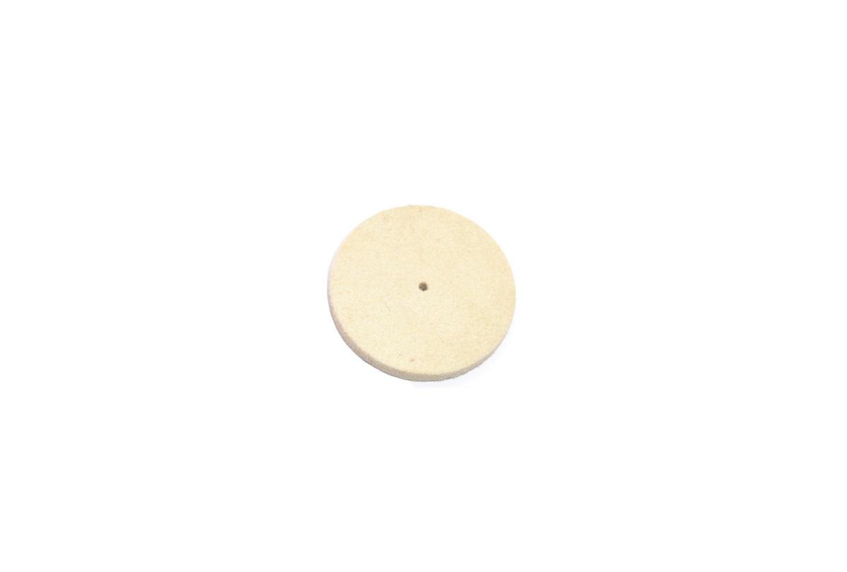 "BF17.420 New! Solid Felt Wheel Buff, 2"" x 3/8""-Grobet"