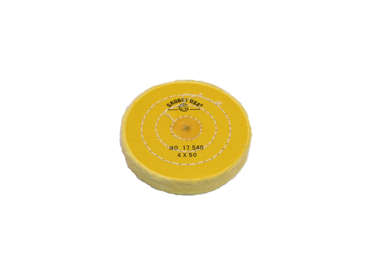 "BF894 Yellow Chemkote Buff, 4"" x 50 Ply, Shellac Center--Grobet"