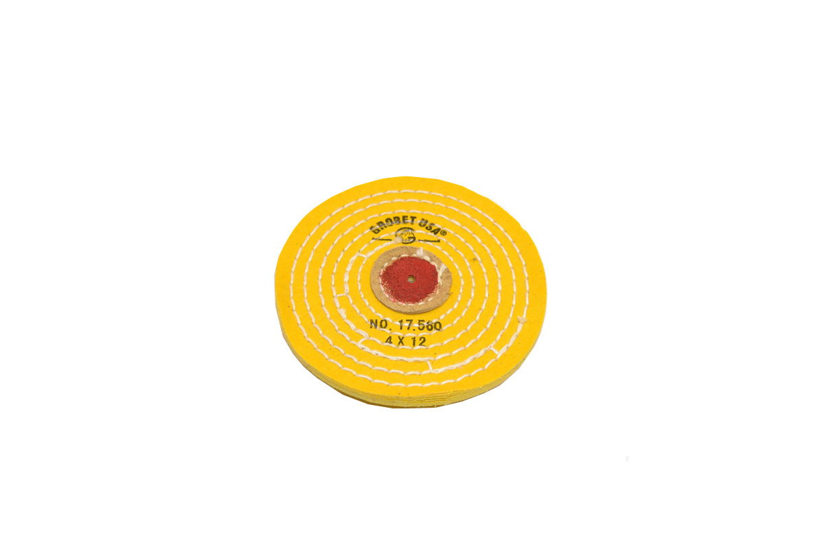 "BF724 Chemkote Buffs--4""--Knife Edge--Yellow Grobet #17.560"