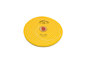 "BF726 Chemkote Buffs--6""--Knife Edge--Yellow Grobet #17.561"