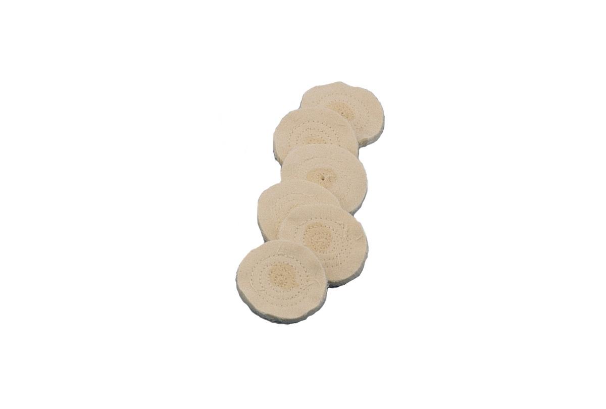 """BF17.619  Miniature Finex Muslin Buff, 2""""- Pkg of 12- Grobet"""