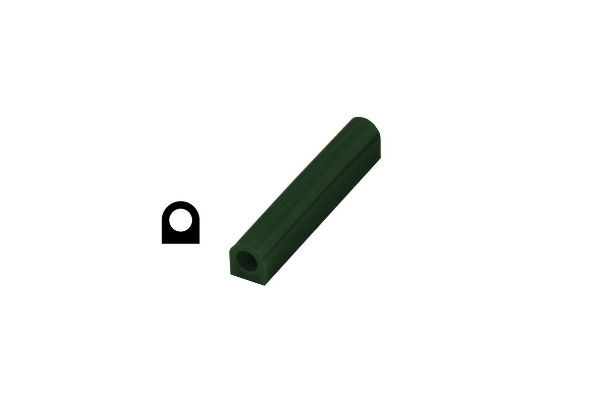 CA2692 Matt Ring Tube, Green, Flat Side with Hole, Grobet # 21.02692
