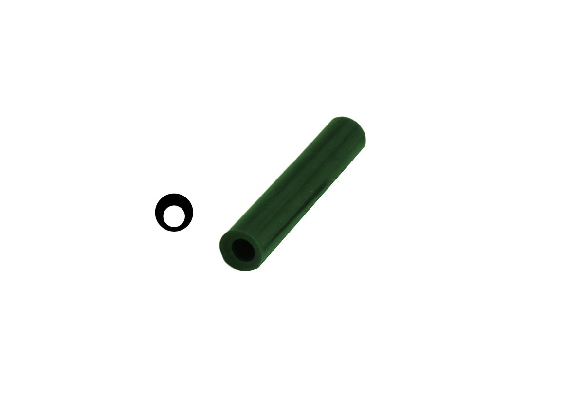 CA2701 Matt Ring Tube, Green, Off-Center Hole, Grobet # 21.02701