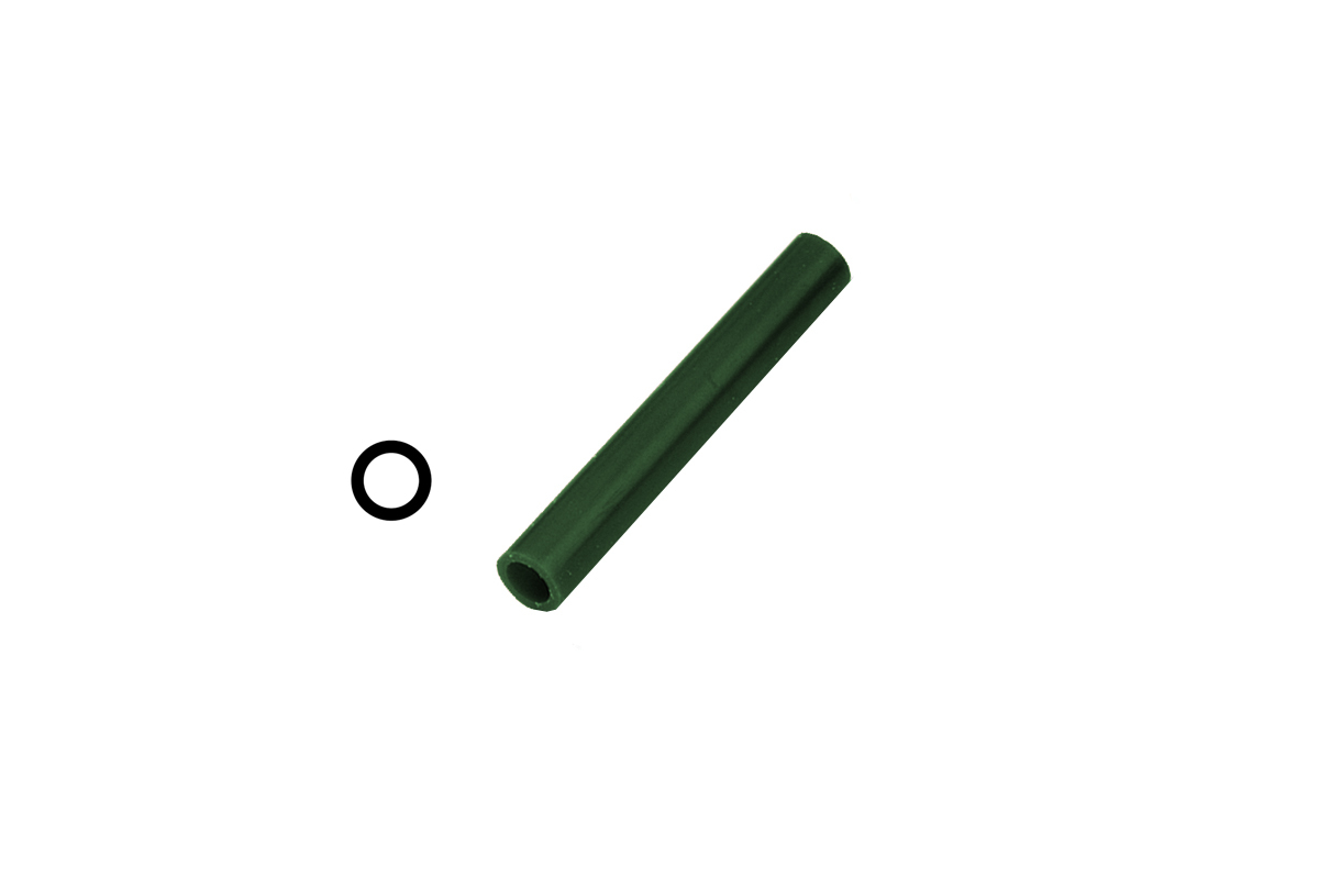 CA2713 Matt Ring Tube, Green, With Centered Hole, Grobet # 21.02713