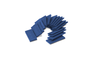 CA573 Ferris Wax, File-A-Wax, Wax Slices, Blue- 1/2 Pound Assorted- Grobet # 21.384