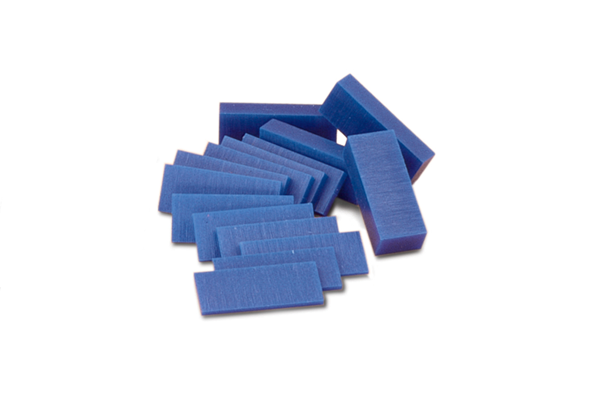 CA583 Ferris Wax, File-A-Wax, Blue Wax Slices, 1 Pound Assorted -Grobet # 21.388