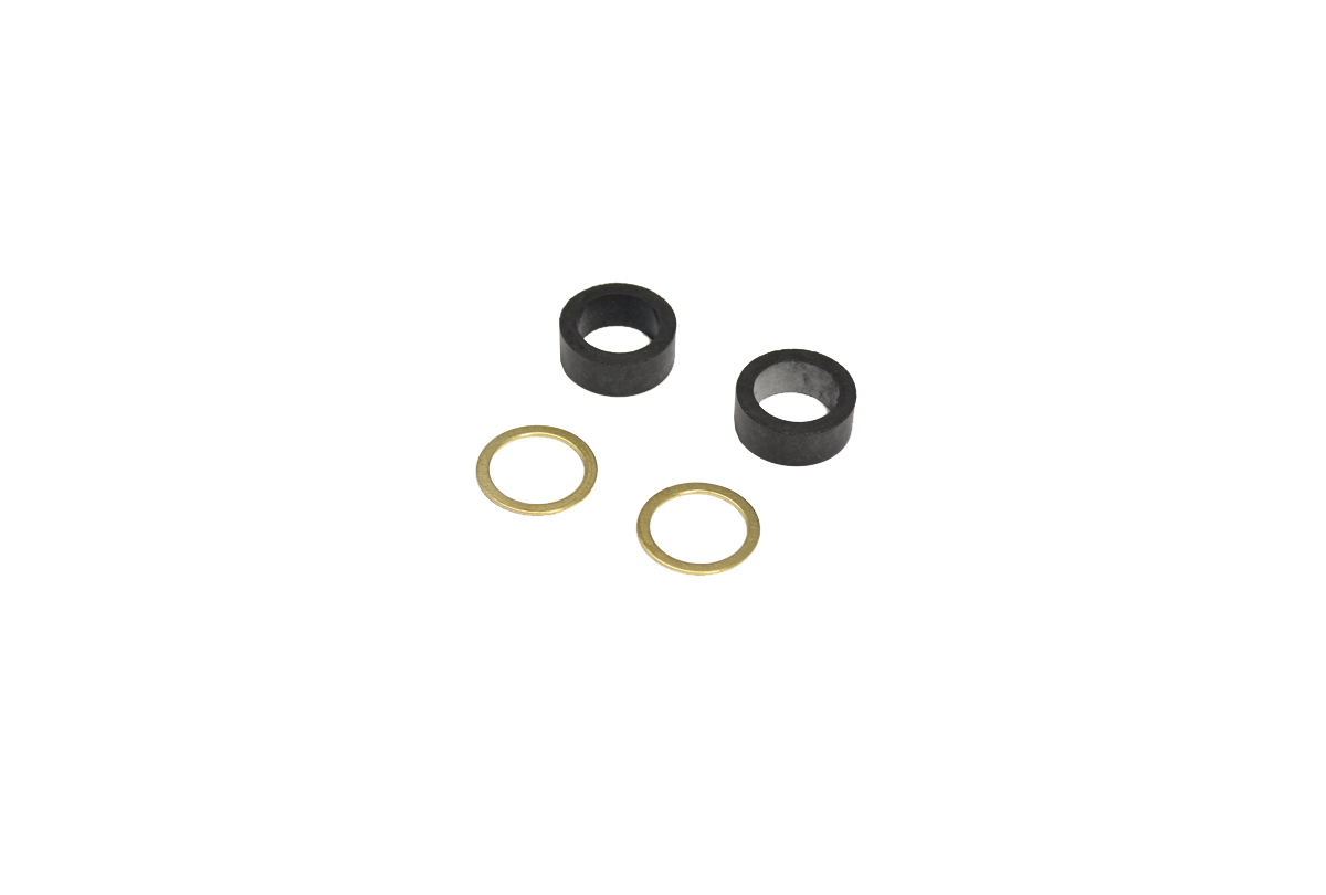 CL876/6A Rubber Gaskets & Brass Washer Set for Sight Glass-Grobet # 23.711