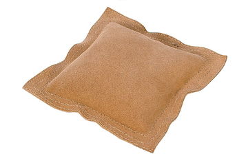 "25.486 New! 10"" Square Leather Sandbag- Grobet- Special Order"
