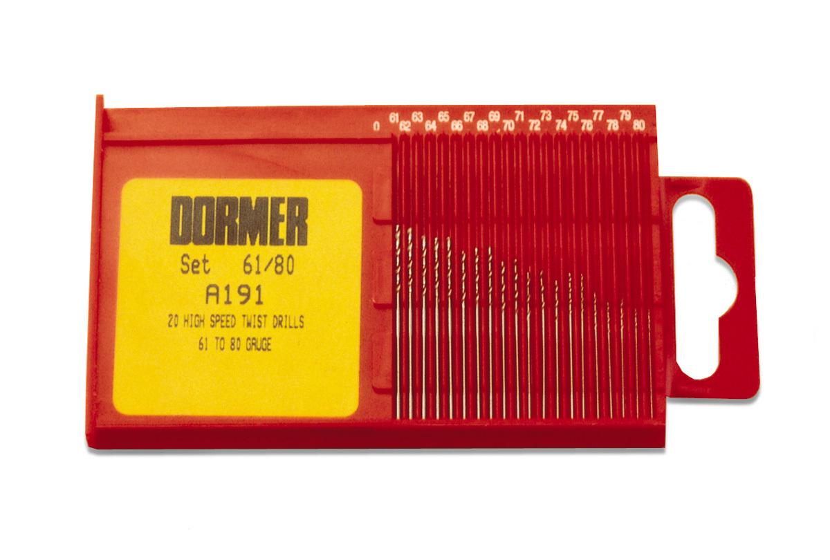 DR540 Dormer set of 20 High Speed Twist Drills-- #'s 61 to 80