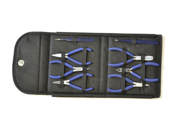 46.395 Complete Plier/Tweezer Tool Set – 8 Pieces- Grobet