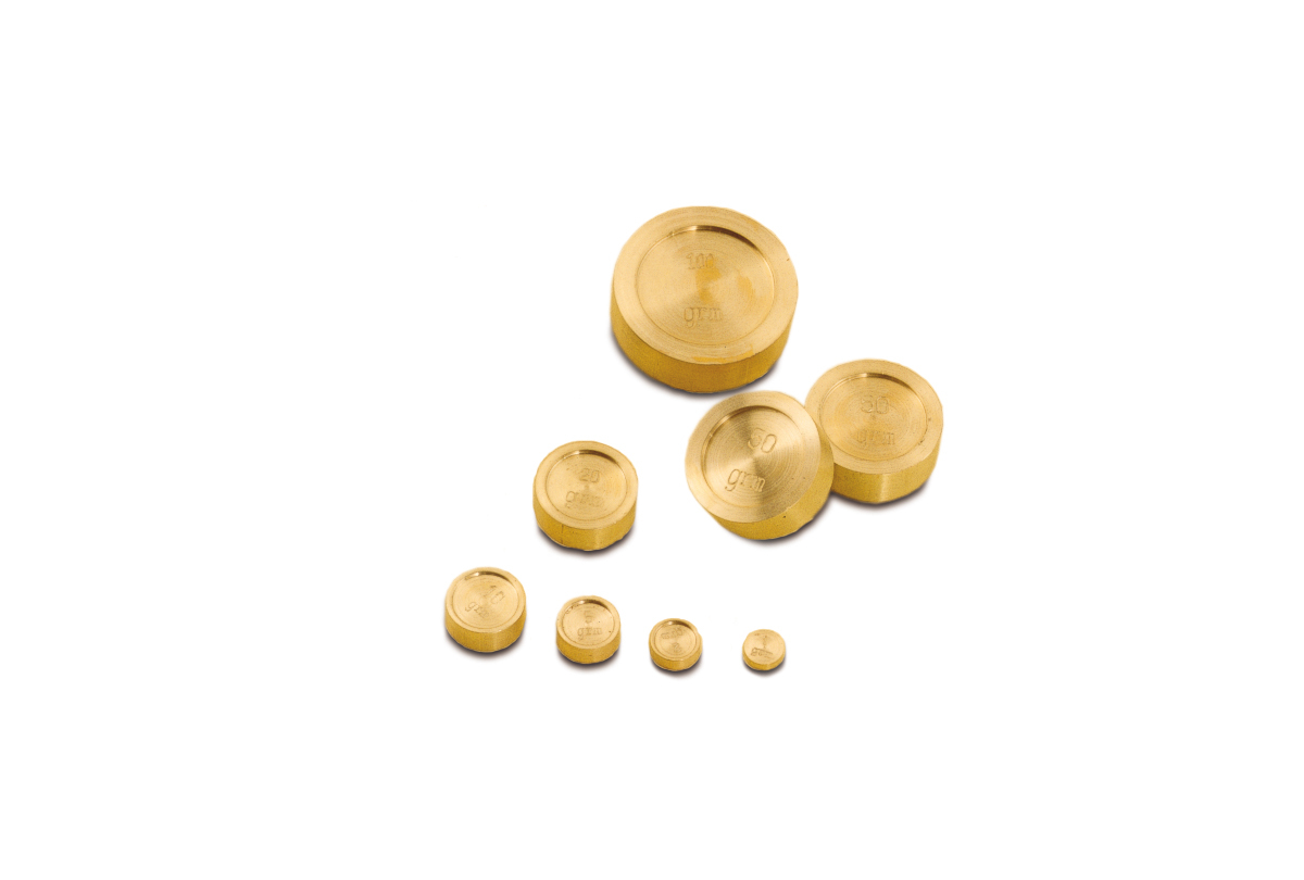 51.093 Gram Weight Set, 8 pieces-Grobet- Special Order