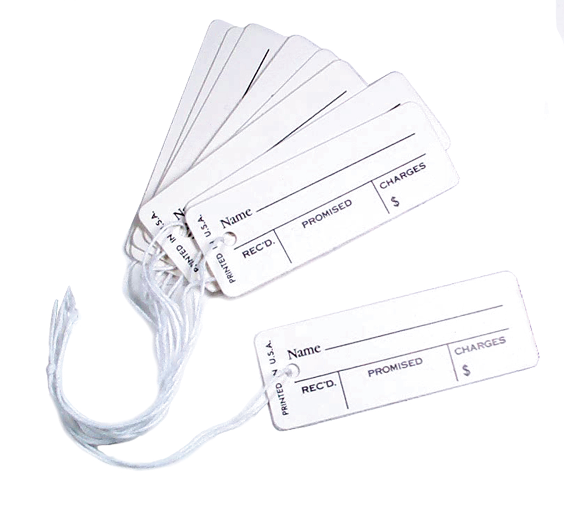 TA300 Printed Repair Tags--Box of 1000 Grobet 61.300