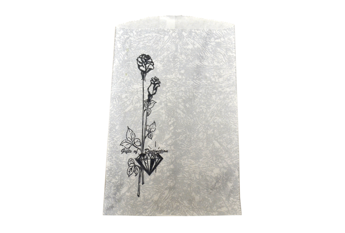 61.181 Gift bags-8-1/2 X 11 Silver 1000/Bx,- Special Order--Grobet