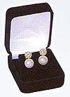 BX13E Earring Boxes BLACK Velveteen--Sold by the Dozen