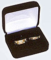 BX15R Double Ring Boxes--Black Velveteen