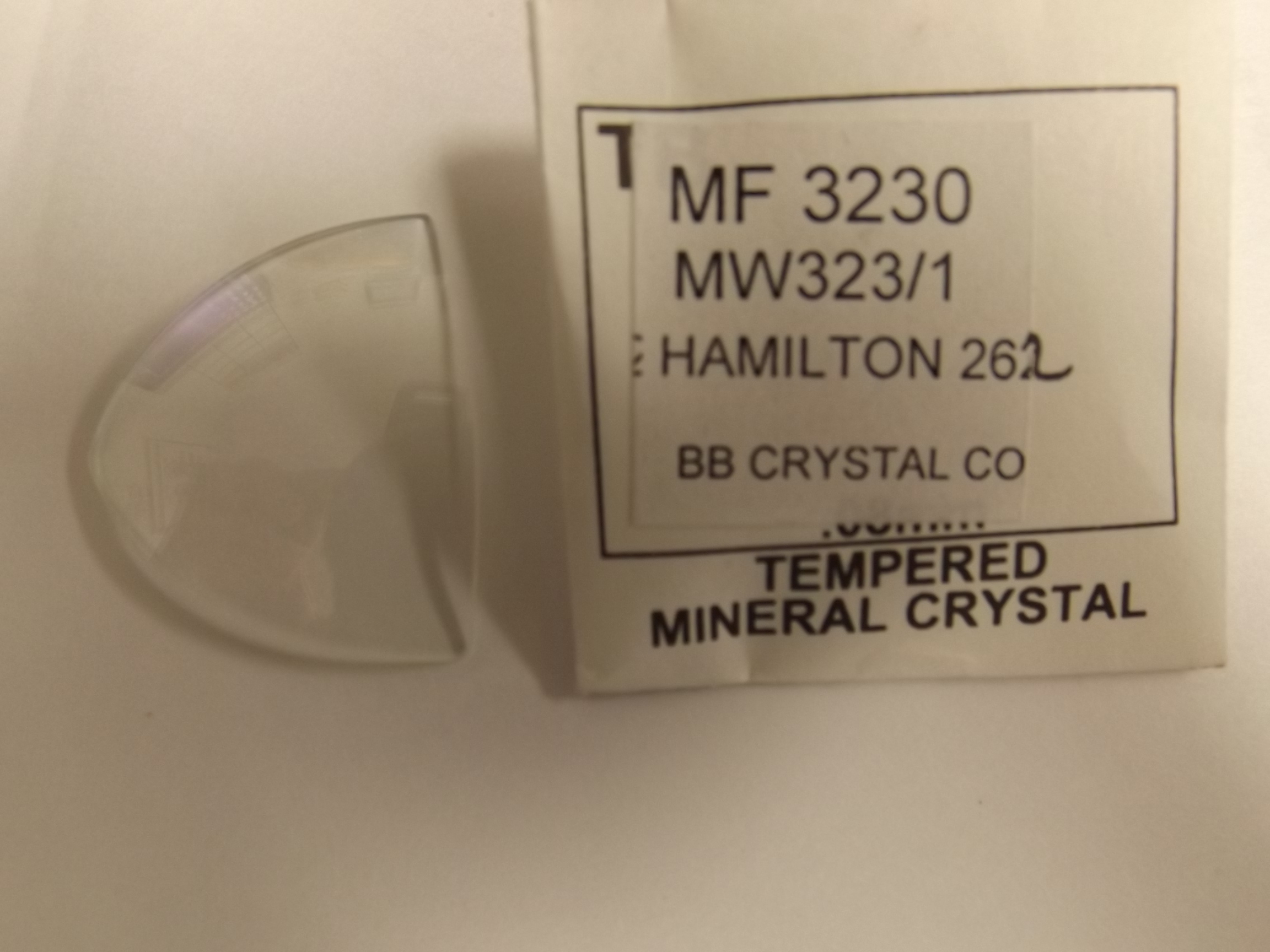 MF3230  BB Crystal Company/American Perfit Glassnwatch crystal for Hamilton Electric Ventura/Pacer Watch