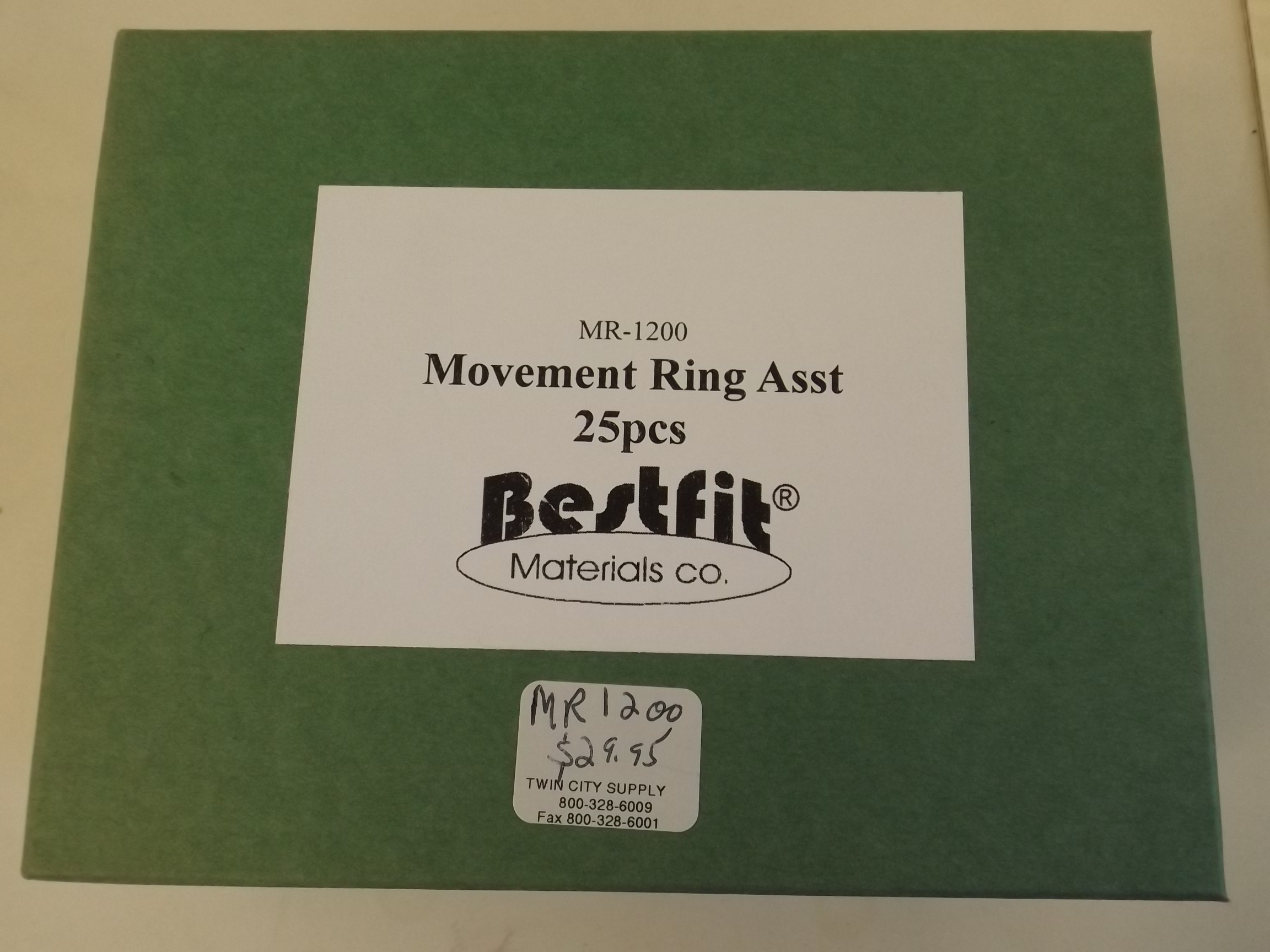 MR1200 New! Movement Ring Assortment 25 pieces from Bestfit