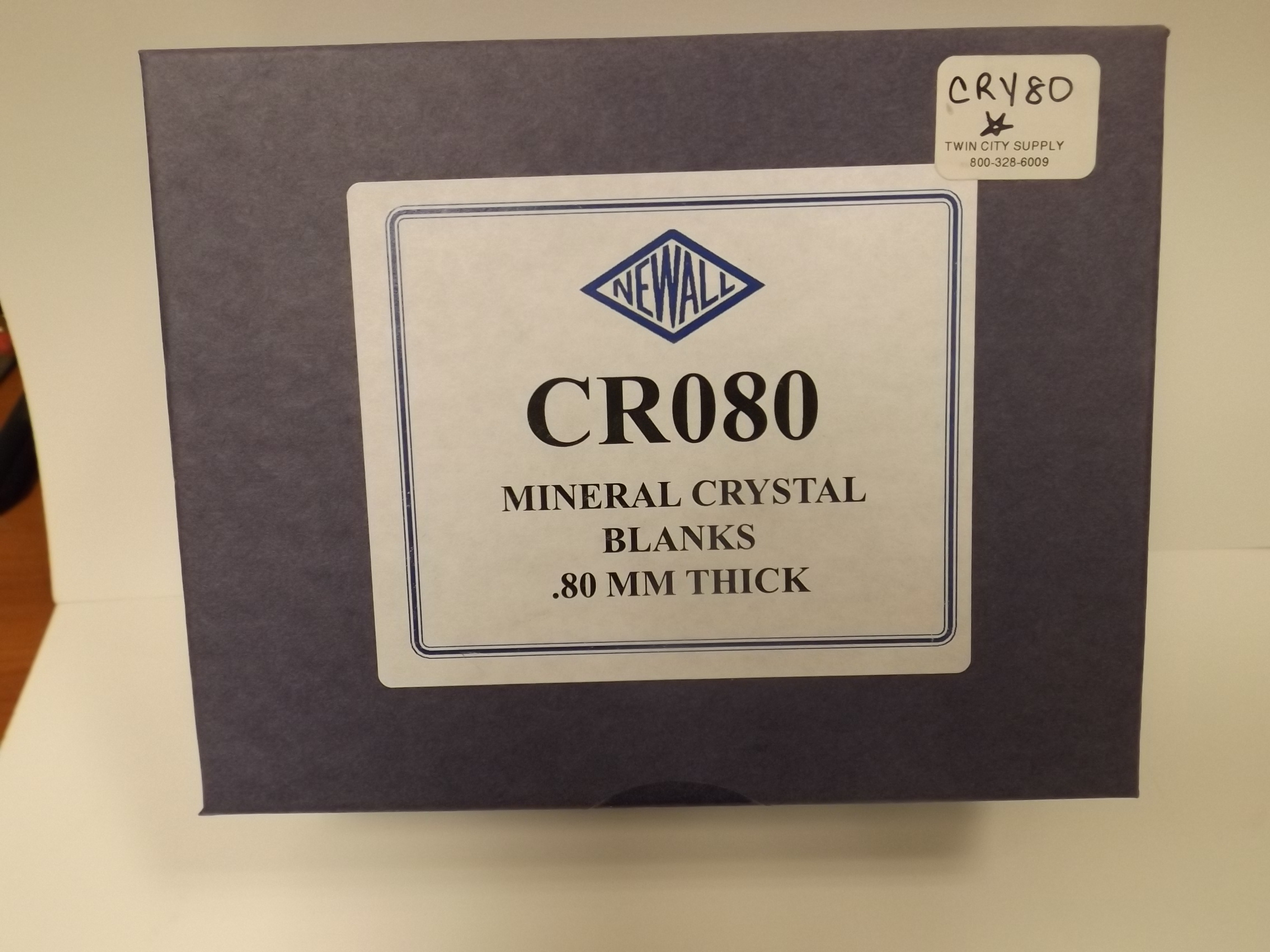 CRY080 New! from Newall 100 piece Assortment of BMG Mineral Glass Watch Crystals