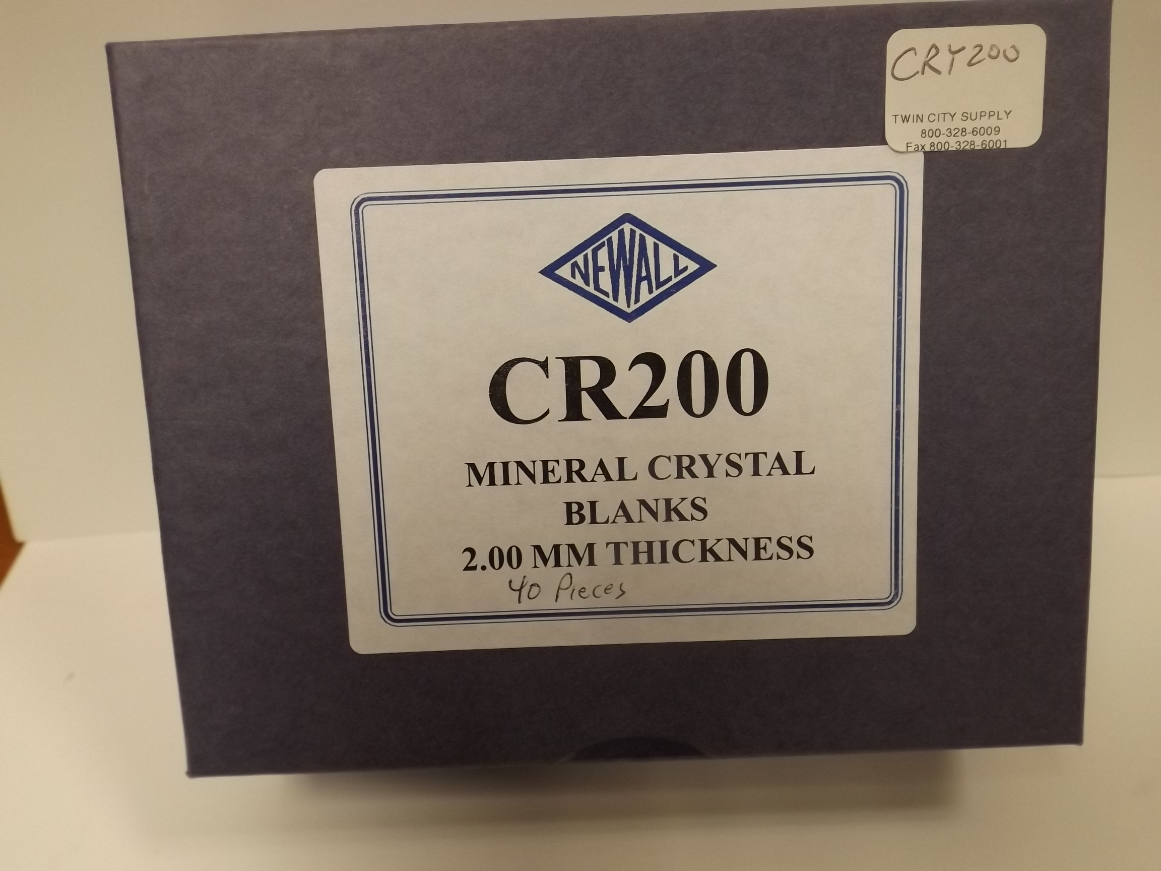 CRY200 New! 40 pc Assortment of XB 2.00mm Mineral Glass Crystals--from Newall