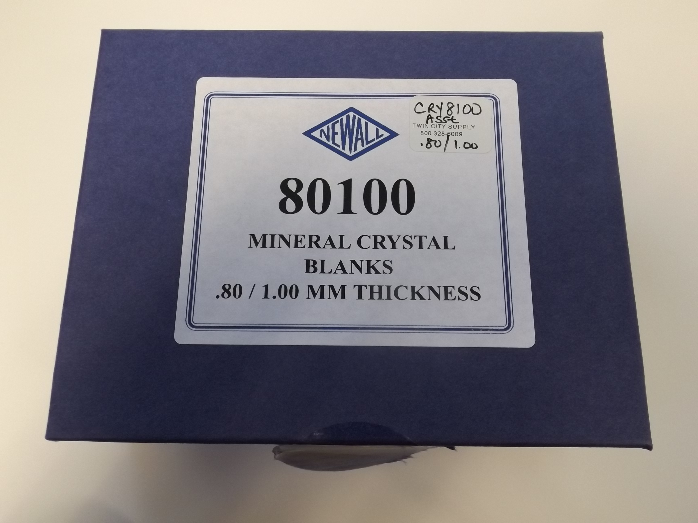 CRY8100 New! from Newall 100 piece Assortment of RMG/BMG Mineral Glass Watch Crystals